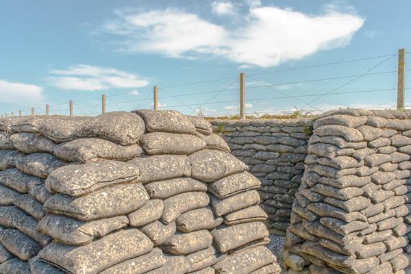sandbag barriers